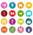 cinema icons set colorful circles vector image vector image