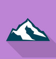 climb mountain icon flat style vector image