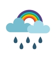 cloud and rainbow vector image vector image