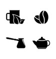 coffee tea drink simple related icons vector image