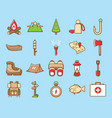 cute and funny camping icon vector image