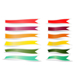 Decorative color ribbons vector image vector image