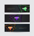 design of a black horizontal banner with vector image