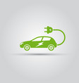 electric car with electric plug icon vector image