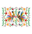 ethnic mexican tapestry embroidery otomi style vector image