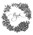floral wreath black and white succulent vector image