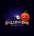 halloween party background los angeles vector image vector image