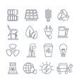 Hand Drawn Eco Energy Icons Set vector image
