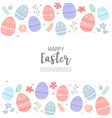 happy easter with egg vector image vector image