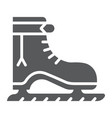 ice skate glyph icon christmas and new year vector image vector image