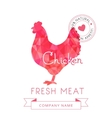 Image meat symbol chicken silhouettes of animal vector image