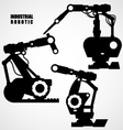 Industrial robotics - conveyor machinery tools vector image
