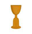 isolated chalice icon vector image vector image