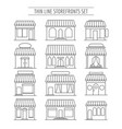 line street retail fronts vector image