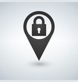 location lock marker pin point position secure vector image