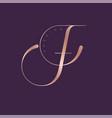 logo f monogram fashion luxury vector image vector image