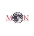 logotype moon vector image vector image