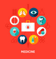 medicine concept icons vector image vector image