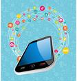 mobile social media concept vector image vector image