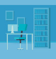 office workplace isolated icon vector image