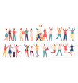 people celebrate birthday friend characters dance vector image vector image