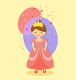 pink cute beautiful princess vector image vector image