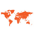 politial map of world simple flat orange vector image vector image