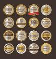 premium quality retro vintage golden labels vector image vector image