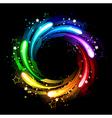 Round rainbow banner