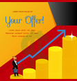 school of business flyer with lettering vector image vector image