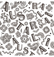 seamless pattern - australian aboriginal vector image vector image