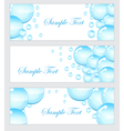 Set of soap bubbles water droplets banner vector image