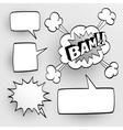 Set of speech comic bubbles vector image
