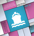 ship icon sign Modern flat style for your design vector image