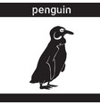 silhouette penguin in grunge design style animal vector image vector image