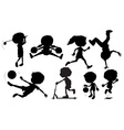 silhouette sports vector image vector image