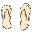 simple on white background a pair flip flops vector image