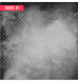 smoke special effect on transparent fog isolated vector image