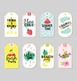 summer tags beach vacation travel graphic vector image vector image