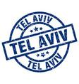 Tel aviv blue round grunge stamp