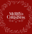 typography merry christmas vector image vector image