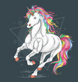unicorn run vector image vector image
