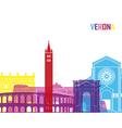 Verona skyline pop vector image vector image
