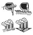 Vintage Metallurgy emblems vector image