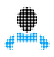 worker halftone dotted icon vector image vector image