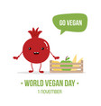 world vegan day cartoon vector image vector image