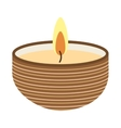 candle flame spa icon vector image