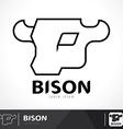 Bison logo vector image