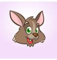 cool cartoon wolf head or werewolf vector image