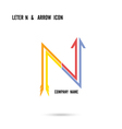 letter N icon logo design vector image